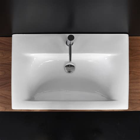 Vanity Top Bathroom Sinks by Lacava 9007 Caletta Porcelain Vanity Top With An Overflow