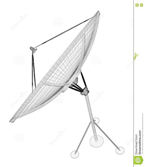 satellite antenna digital stock photo image 73583748