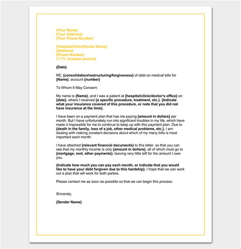 Insurance Hardship Letter Hardship Letter Template 10 For Word Pdf Format