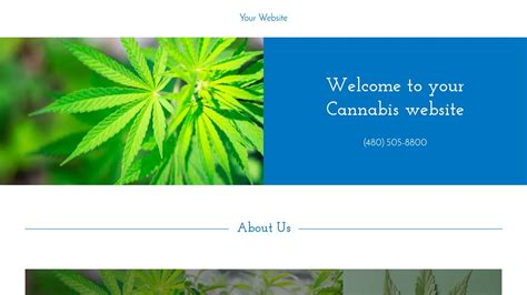 Exle 6 Cannabis Website Template Godaddy Marijuana Website Templates