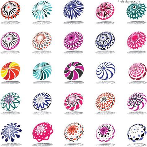 Pattern Logo Vector | 4 designer rotation pattern logo vector material