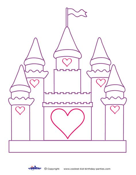 printable castle decoration