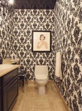 Gallery for gt damask wallpaper bathroom