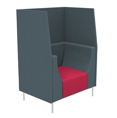 high back modern reception seating tub chair with high