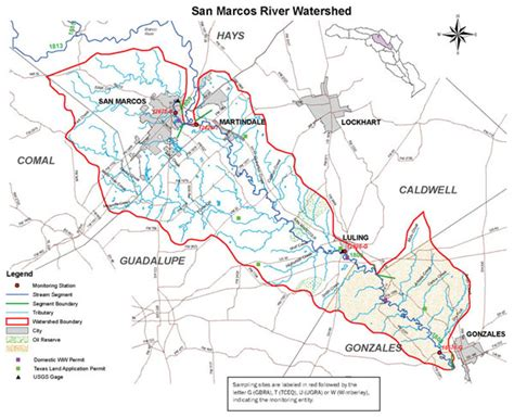 map san marcos texas guadalupe blanco river authority guadalupe river basin map