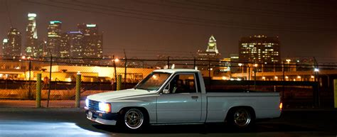 stanced nissan leaf jdm truck 1987 toyota pickup stanced on 15 215 8 zero offset