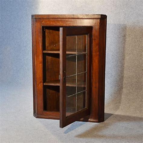 antique corner cupboard glazed wall display cabinet