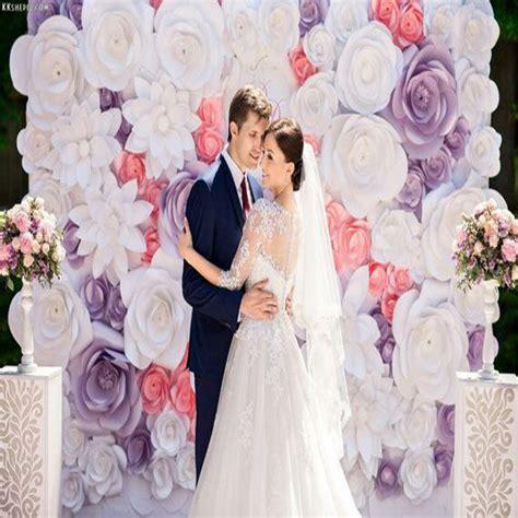 Flower Big Bunga Kertas Paper Flower wedding backdrops 63pcs set big cardboard paper flowers backdrop wedding background decorations