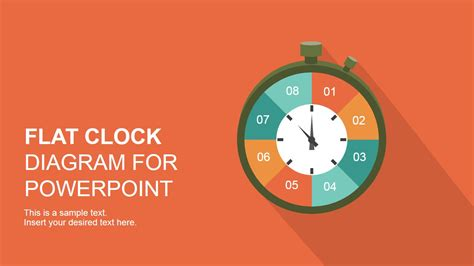 Flat Analog Clock Diagram Powerpoint Template Slidemodel Microsoft Powerpoint Templates Time