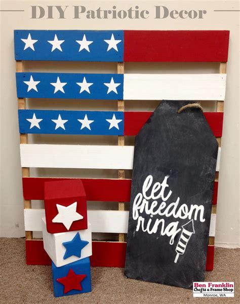 Patriotic Decor by Ben Franklin Crafts And Frame Shop Wa Diy