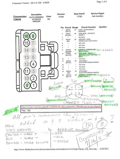 2013 f 150 rear view mirror wiring diagram wiring