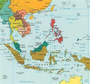 map of southeast asia brunei cambodia indonesia laos