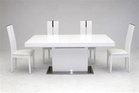 zenith modern white extendable dining table