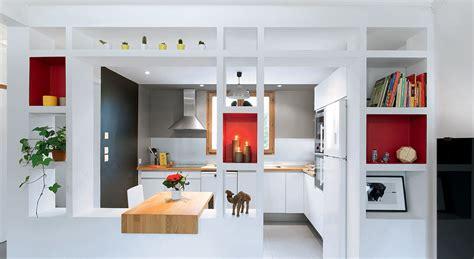 s駱aration vitr馥 entre cuisine et salon cuisine ouverte une r 233 novation moderne et fonctionnelle