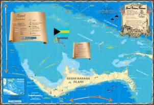 bahamas maps grand bahama island island map store