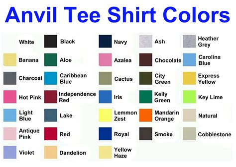 at t colors gildan shirt color chart hunt hankk co