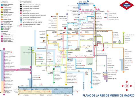 plano metro de madrid lano metro madrid mapa