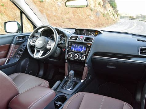 subaru forester interior 2017 ratings and review safe reliable and utilitarian the