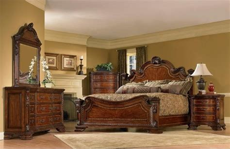 art furniture 5 piece old world king size estate bedroom