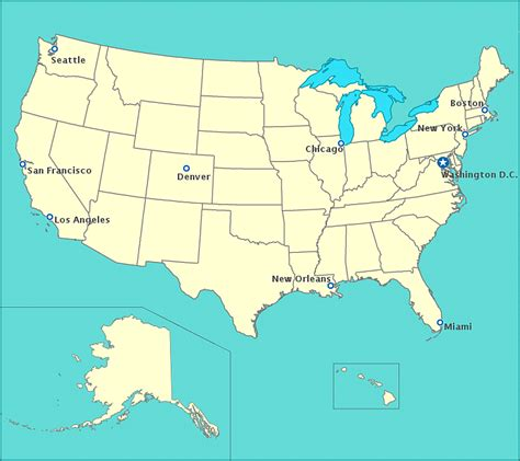 united states map your child learns usa map with state names and cities