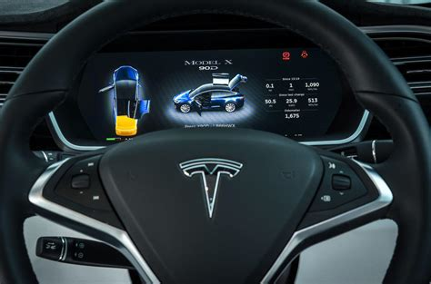 tesla model s instrument cluster tesla model x review 2017 autocar