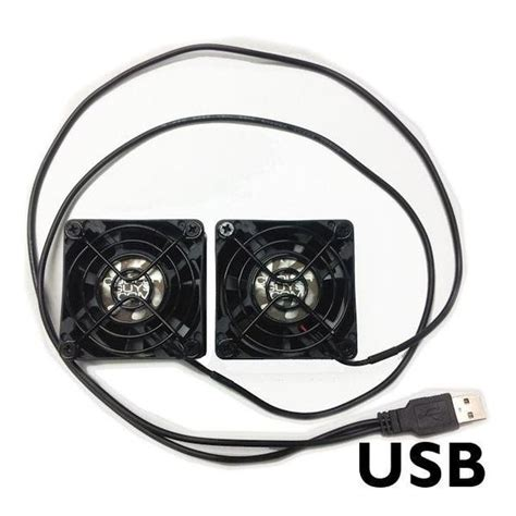Coolerguys Dual 60x25mm Component Cooling Fans With Usb