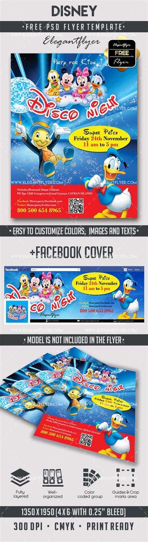 Disney Free Flyer Psd Template By Elegantflyer Disney Flyer Template