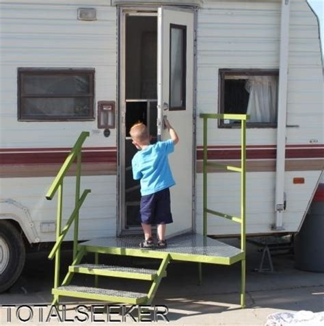 Portable Rv Porch Steps portable cer steps rv porch with steps assembly portable totalseeker c out in