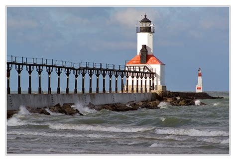 michigan city east pier lighthouse a photo from indiana