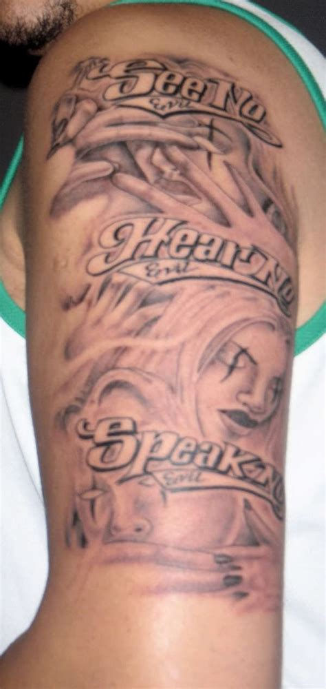 hear no evil tattoo see no hear no speak no evil
