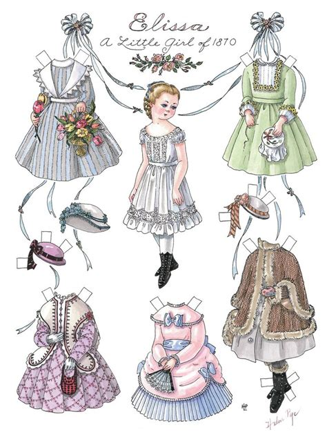 Paper Doll - elissa a of 1870 paper dolls