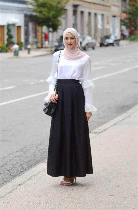 Pastel Blouse Muslim Rok Maxi Flowy how to wear in honeymoon just trendy
