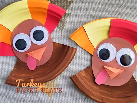 Thanksgiving Paper Plate Crafts - paper plate turkeys our kid things