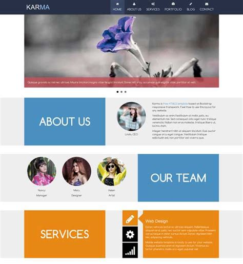 bootstrap templates for school website free download 50 free responsive html5 and css3 templates