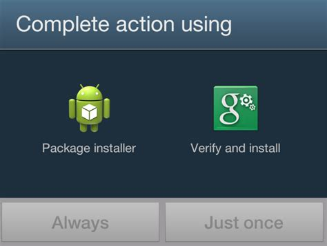 android package installer how to use default package installer android when trying to install an apk from another app