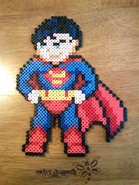 perler superman superman by rockerdragonfly perler
