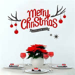 merry christmas wall stickers merry christmas antler wall sticker by snuggledust studios