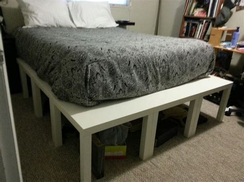 brimnes bed with lack shelf as bedside table ikea queen bed platform made from ikea lack end tables total