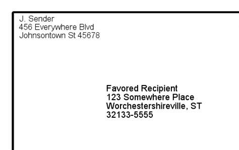 how to format a letter envelope letter envelope format gallery