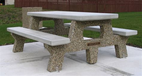 all concrete memorial picnic table t6561m doty concrete