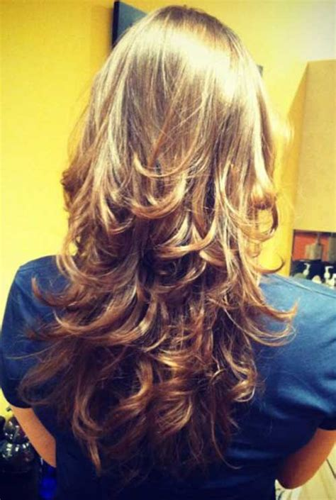 back views of long layer styles for medium length hair back view of choppy layered haircuts
