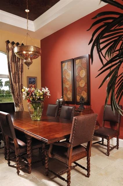 Paint Color For Dining Room Accent Wall Moroccan Dining Room