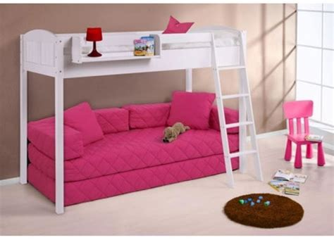Childrens Bunk Beds With Sofa Bedroom Furniture High Sleeper Bunk Bed Sleeps 2 Room Space Save Sofa Ebay