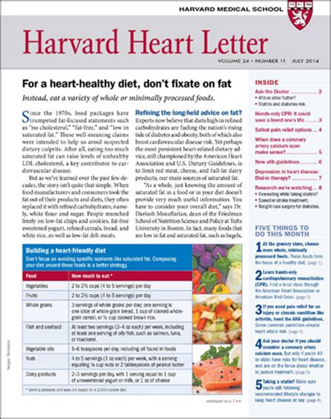 harvard heart letter harvard health