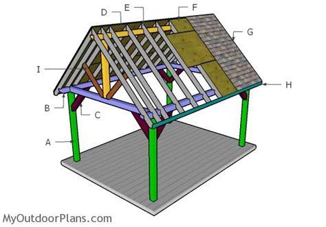 12x16 Pavilion Roof Plans Myoutdoorplans Free Pavilion Building Plans Free