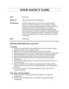 Bookkeeper Resume Objective by Doc 8001035 Bookkeeper Resume Objective Bookkeeper