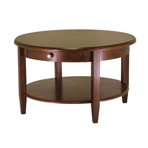 Shop Winsome Wood Concord Antique Walnut Round Coffee Coffee Tables Sale