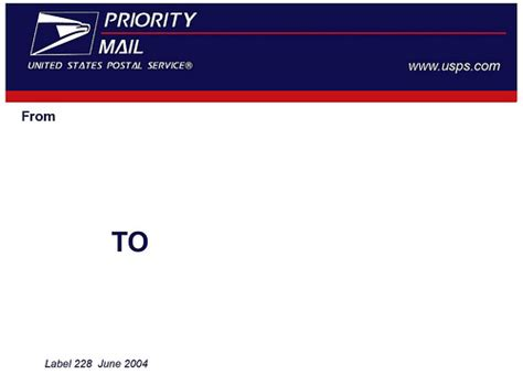2004 Usps Label 228 Template Thought Id Put This Up For Th Flickr Photo Sharing Usps Priority Label Template