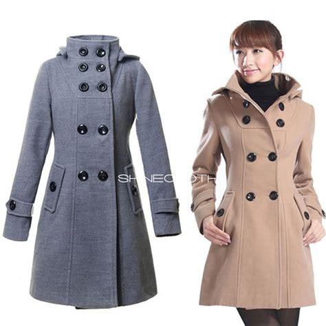 Sale Fashion Wanita Dress Maxi Michael shinecloth breasted wool coat winter