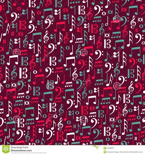 pattern making notes free music notes seamless patternillustration royalty free
